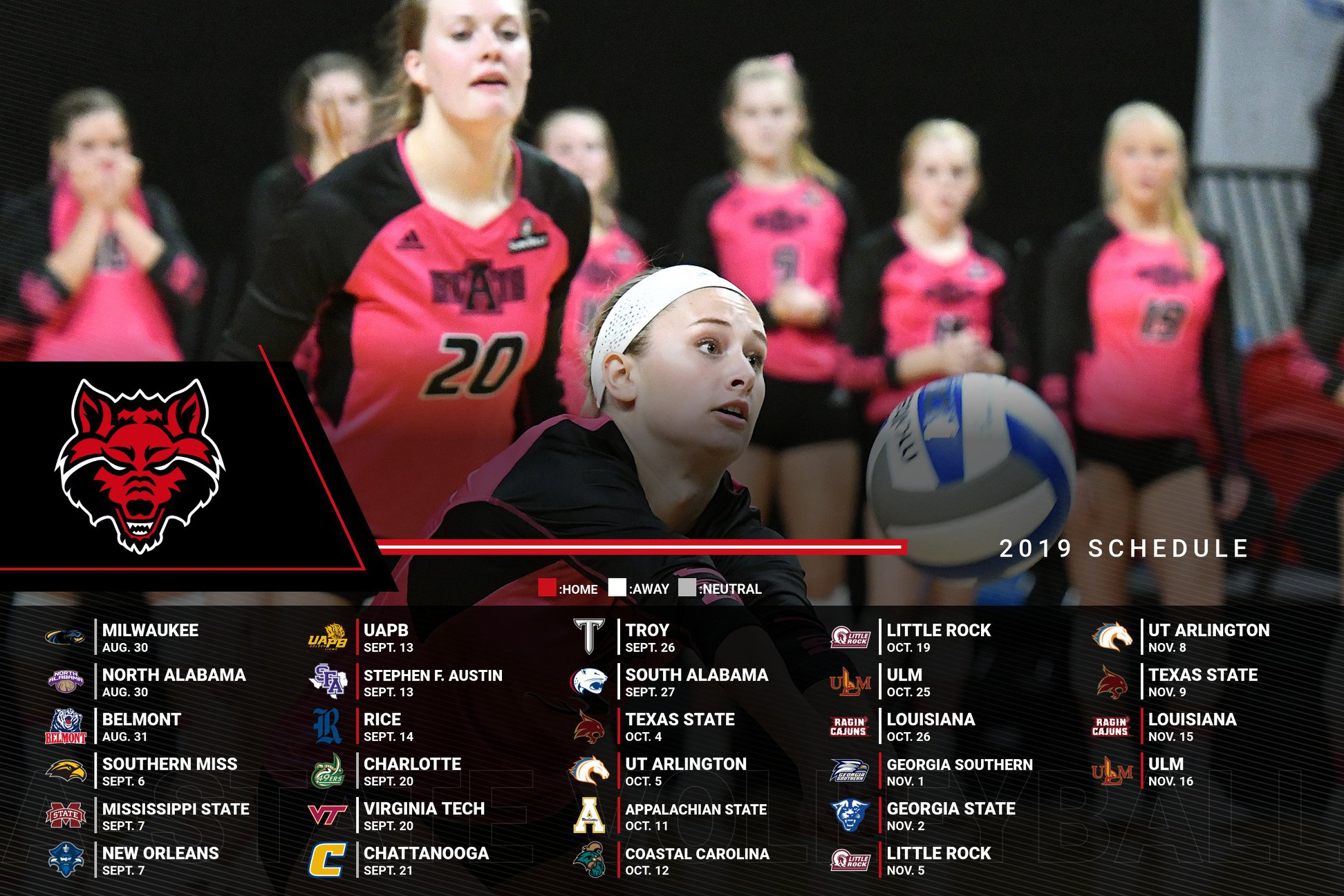 A-State Volleyball Schedule