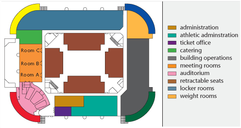 Convocation Center building diagram